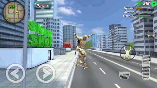 Super Crime Steel War Hero Iron Flying Mech Robot 1.2.2 screenshots 1