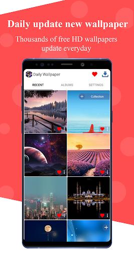 daily wallpaper - backgrounds hd - beautiful girl screenshot 1