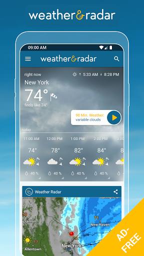 Weather & Radar USA - ad free screen 0