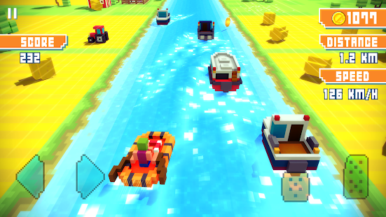Blocky Highway: Traffic Racing 1.2.3 Screenshots 14