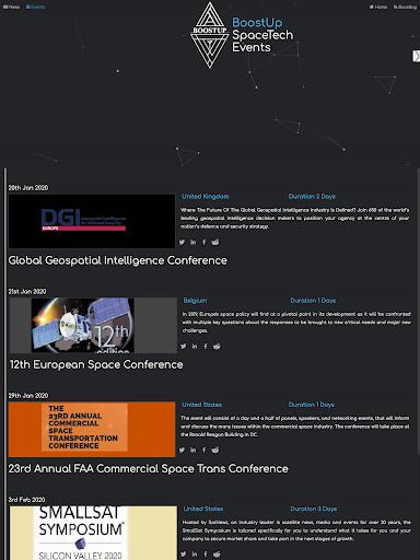 BoostUp Group - Space Tech, Newspace, News, Events  screenshots 7