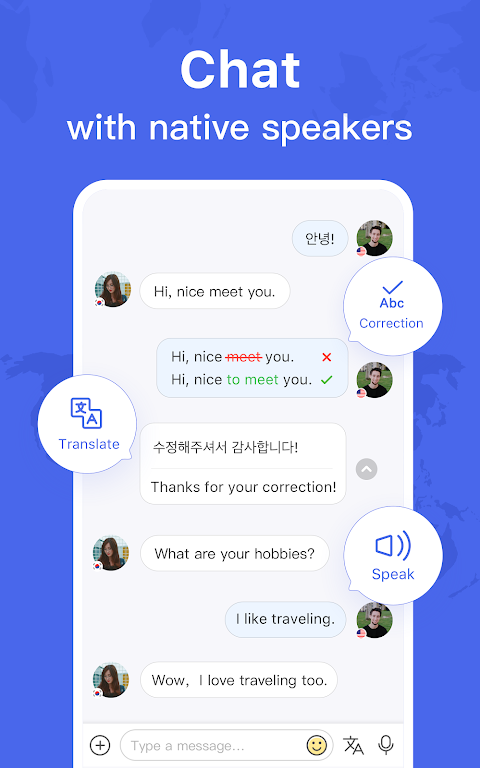 HelloTalk - Chat, Speak & Learn Languages for Free poster 5