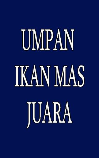 Download Resep Umpan Ikan Mas Juara Free For Android Resep Umpan Ikan Mas Juara Apk Download Steprimo Com