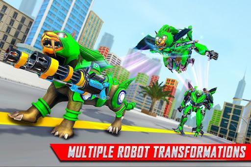 Lion Robot Car Transforming Games: Robot Shooting 1.8 Screenshots 4