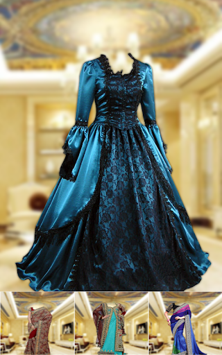 royal bridal dress photo maker screenshot 2