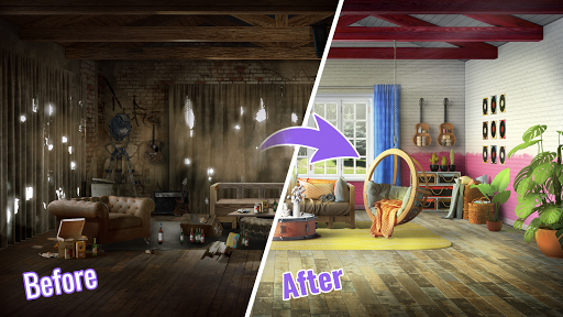 Design Stories: Match-3 Game & Room Decoration modavailable screenshots 13