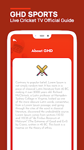 GHD SPORTS – Live Cricket TV Official Guide Apk Download 2021 5
