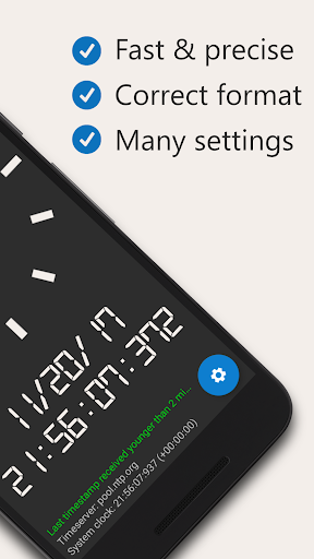 AtomicClock u2014 NTP Time (with widget) 1.7.6 screenshots 2