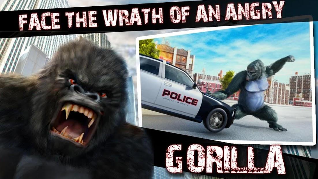 Captura 7 de Angry Monster Gorilla - Godzilla King Kong Games para android