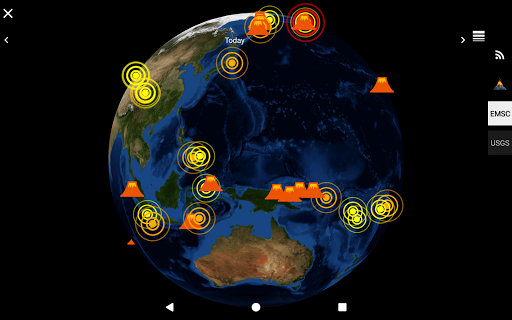 Quake & Volcanoes: 3D Globe of Volcanic Eruptions  Screenshots 9
