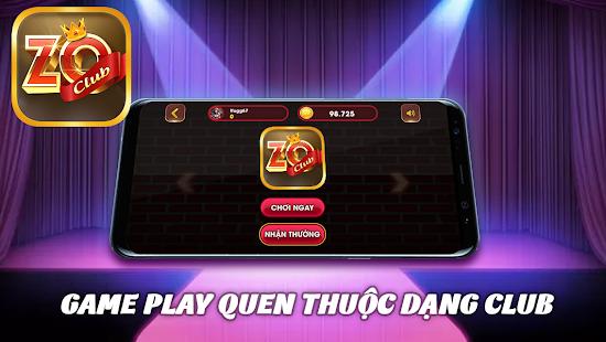 Zo Club - Game Slot No Hu Danh Bai Doi Thuong screenshots 2
