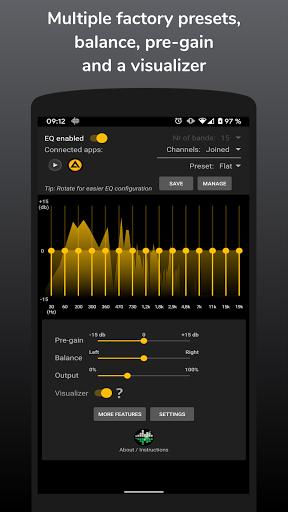 SpotEQ - 31 Band Equalizer For Left & Right Side 1.7.5 Screenshots 2