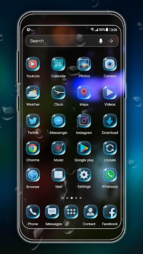 rainy launcher theme &wallpaper screenshot 3