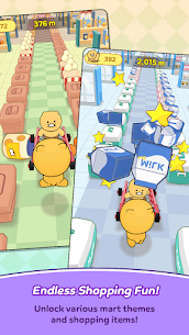 Friends Mart Rush Mod Apk 1.1.0 (All Skins and Carts Are Open) 5
