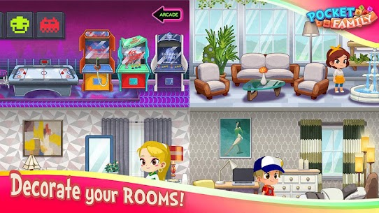 Pocket Family Dreams: Build My Virtual Home Apk Mod + OBB/Data for Android. 7
