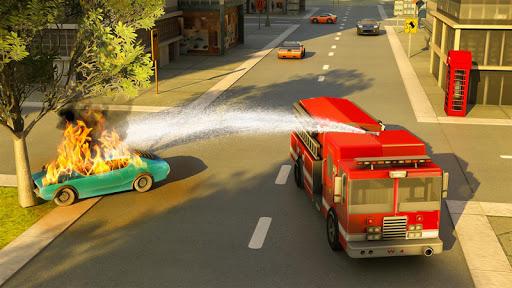 Robot Fire Fighter Rescue Truck  screenshots 3