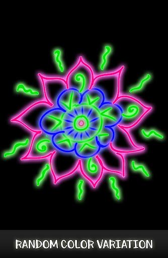 Doodle Spin - Glow Art Spiral Pattern Maker 2018 screenshots 2