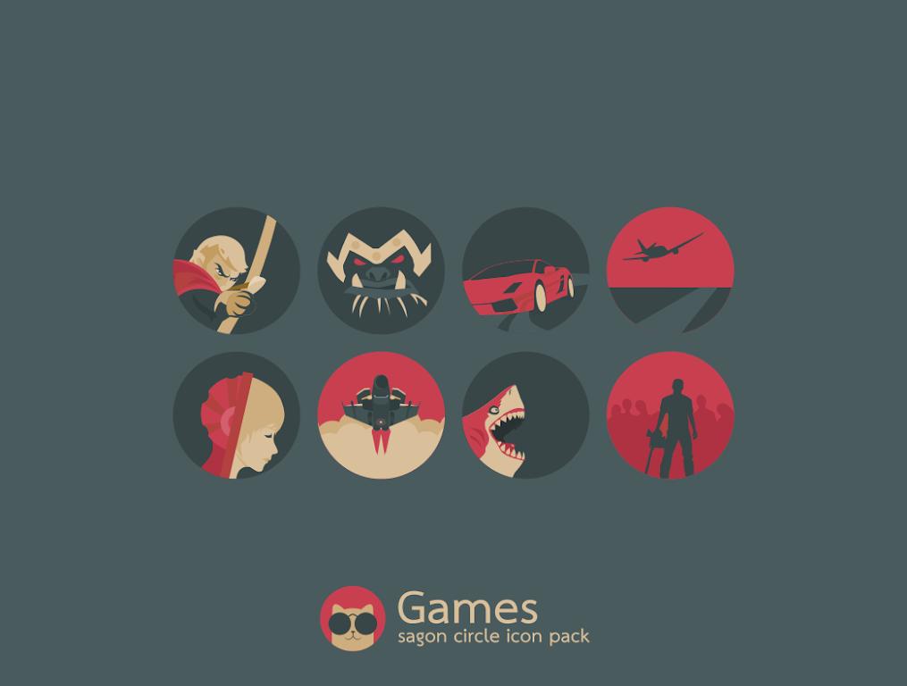 Sagon Circle Icon Pack: Dark UI  poster 9