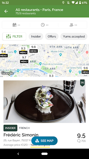 TheFork - Restaurants booking and special offers 18.0.2 screenshots 2