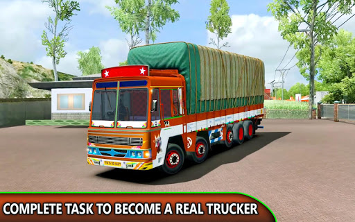 Indian Truck Offroad Cargo Drive Simulator apklade screenshots 1