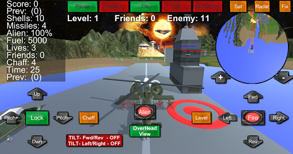 Armour Helicopter vs Aliens 1.0.20 Android Mod APK 2