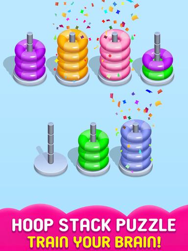 Stack Sort Puzzle - Color Sort - Hoop Sort Stack Apkfinish screenshots 7