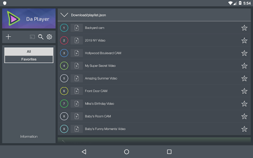 Da Player - Video and live stream player 4.07 Screenshots 8