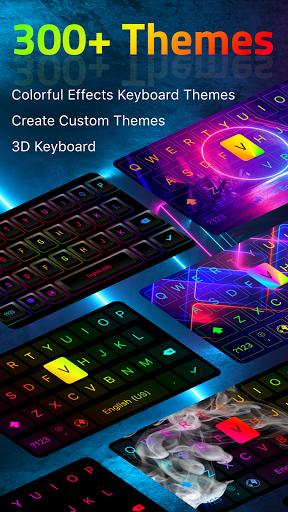 LED Keyboard - RGB Lighting Keyboard, Emojis, Font  Screenshots 1
