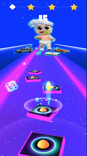Vlad bumaga A4-Kids Dancing Tiles Hop 1.0 Screenshots 2