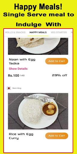 food2u - food ordering app screenshot 3