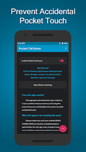 Pocket Call Sense - Prevents Accidental Touch