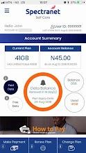 Spectranet Selfcare App - Spectranet Nigeria screenshot thumbnail
