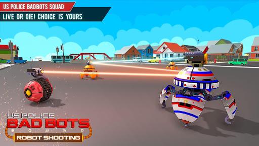 US Police Robot Shooting Crime City Game screenshots 1