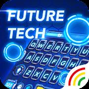 Neon Blue Keyboard - Tech