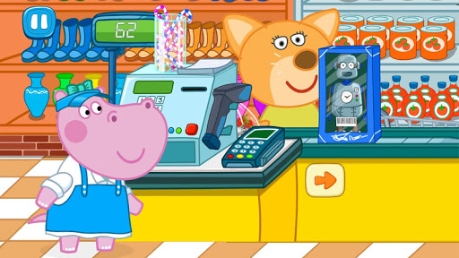 Cashier in the supermarket. Games for kids  screenshots 1