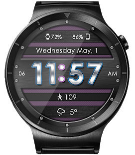Metallic Mesh HD WatchFace Widget & Live Wallpaper
