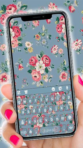 Flowers Vintage Keyboard Theme  screenshots 1