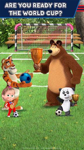Masha and the Bear: Football Games for kids 1.3.8 screenshots 2