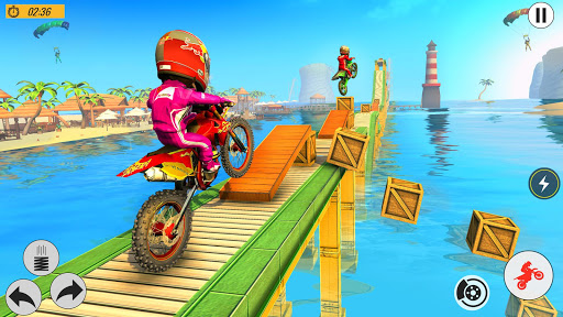 Beach Bike Stunts Game: Crazy Bike Stunts on Ramps apkmr screenshots 5