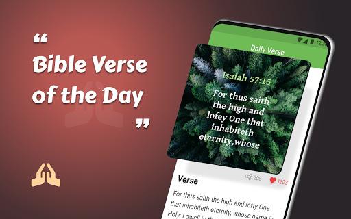 King James Bible (KJV) - Free Bible Verses + Audio android2mod screenshots 1