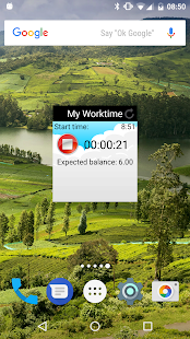 My Worktime - Timesheet Screenshot