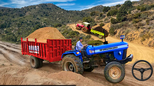 Real Tractor Trolley Cargo Farming Simulation Game screenshots 5