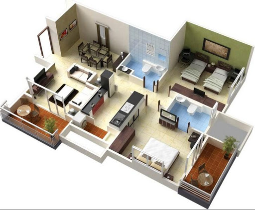3D Home Plan Design For PC Windows (7, 8, 10, 10X) & Mac Computer Image Number- 5