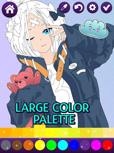 Animated Glitter Coloring Book - Anime Manga  screenshots 1