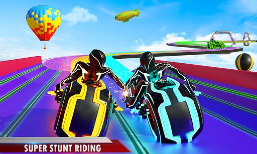 Mega Ramp Light Bike Stunts: New Bike Racing Games modavailable screenshots 1
