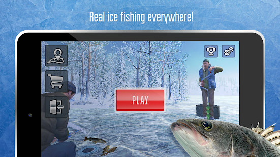 Ice fishing games for free. Fisherman simulator. Screenshot