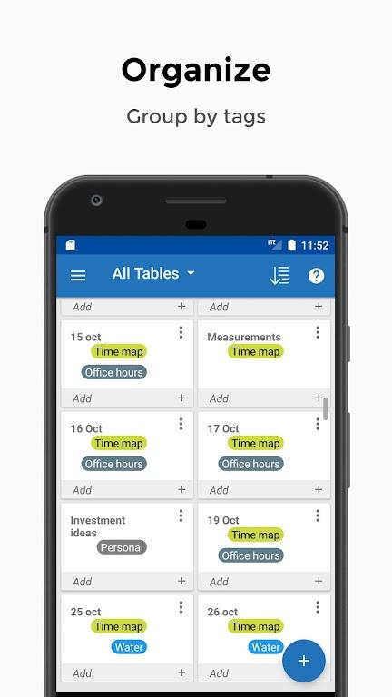 Table Notes - Pocket database & spreadsheet editor  poster 3