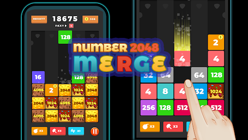 2048 Merge Number u2013 Free Merge Block Puzzle Games screenshots 1