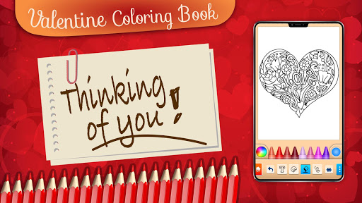 Valentines love coloring book  screenshots 6