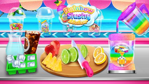 Rainbow Frozen Slushy Truck: Ice Candy Slush Maker  screenshots 8